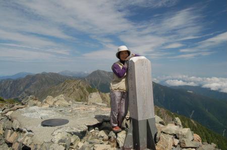 ②赤石岳山頂48