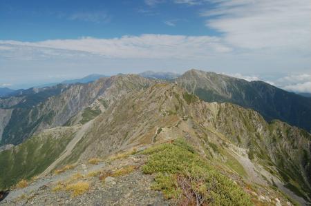②赤石岳山頂からの展望49-1