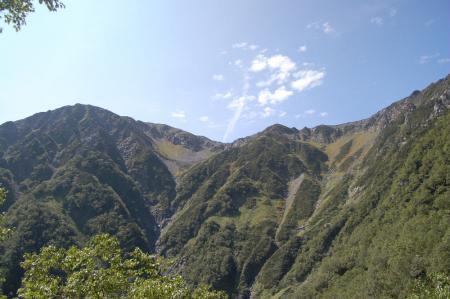 ②振り返り見る赤石岳53