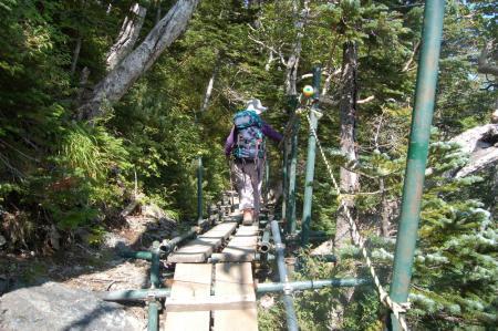 ②赤石小屋への山道54