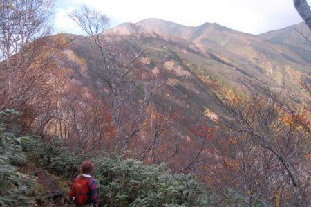巻きから見る大朝日岳16