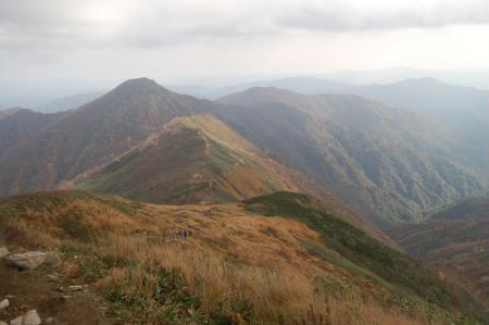 小朝日岳への尾根24