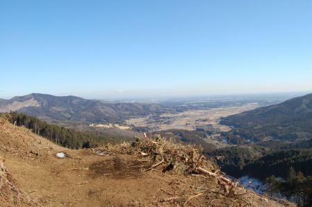11伐採地からの展望