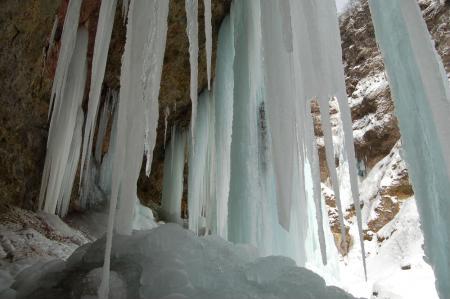 34氷柱群