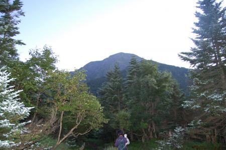 薊畑付近からの聖岳