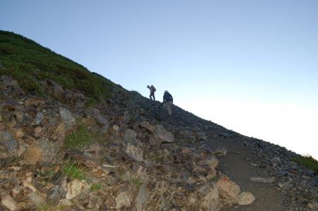 小聖岳への登り