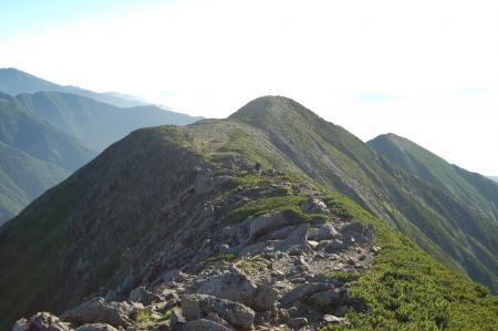 奥聖岳への尾根