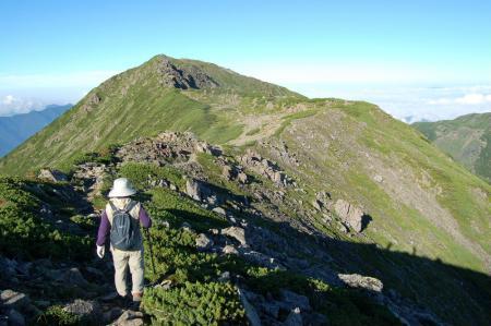 前聖岳への尾根