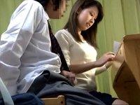 思春期の生徒をクールに痴女る美人家庭教師