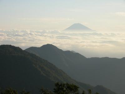 蕎麦粒山からの富士山