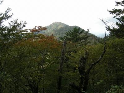 2時間分岐からの高塚山遠望