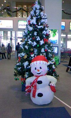 SAGA空港のクリスマスツリー