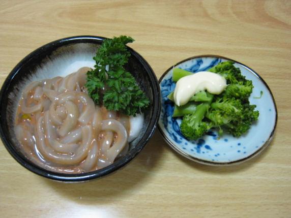 泉食堂塩辛とお通し091018