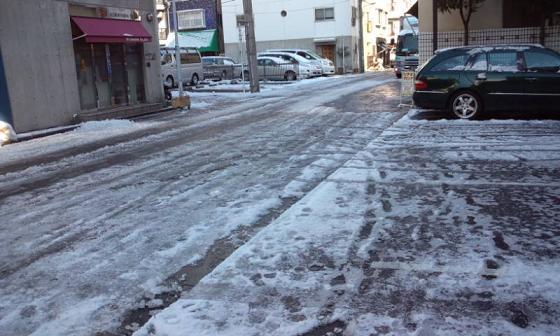 都内の初雪