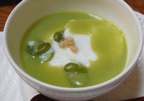 双葉寿司-枝豆スープ