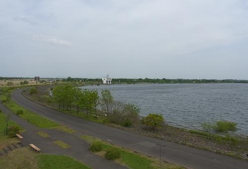 遊水地-谷中湖展望台