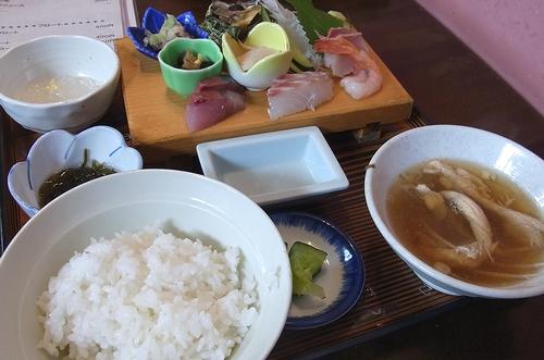 道の駅あつみ-刺身定食
