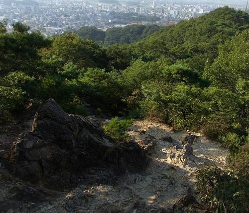 大綱林道~両崖山~織姫公園-両崖山下の岩場