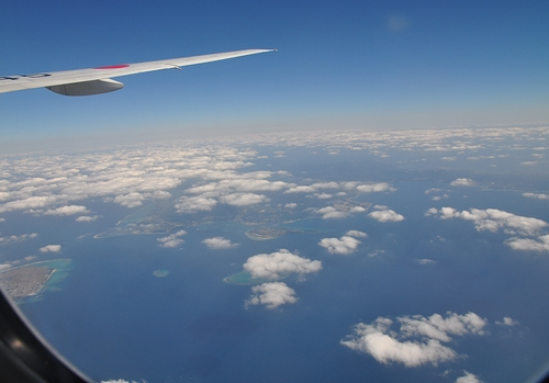 飛行機内からの撮影