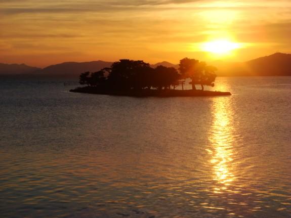 宍道湖の落日