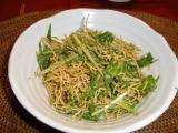 水菜と皿うどんサラダ