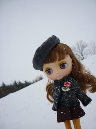 またまた雪が降ってきた。