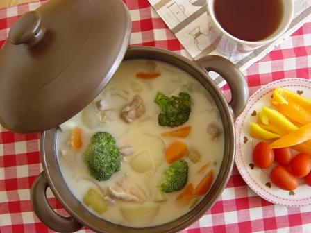 シチュー&ココア色の鍋