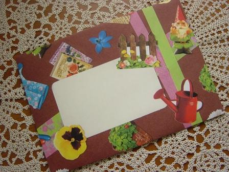 コラージュ封筒 マスキングテープ&フェイバリットシール (2)