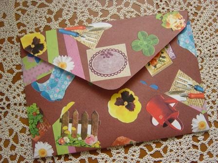 コラージュ封筒 マスキングテープ&フェイバリットシール (3)