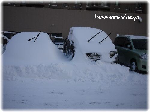 埋まってる車