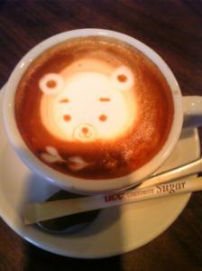 あずちゃんおーだーのカフェラテ