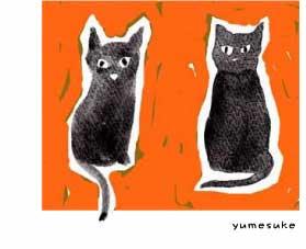 猫版画002