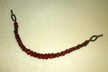 赤と黒の羽織紐
