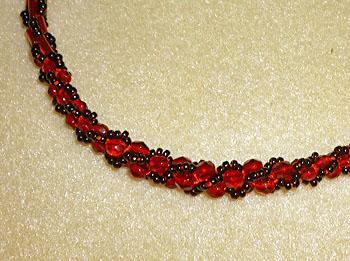 赤と黒の羽織紐2