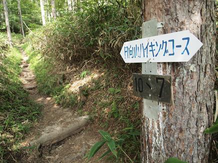 コース途中の標識