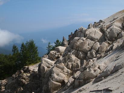 風化した花崗岩