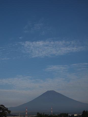 夏の終わりの富士山