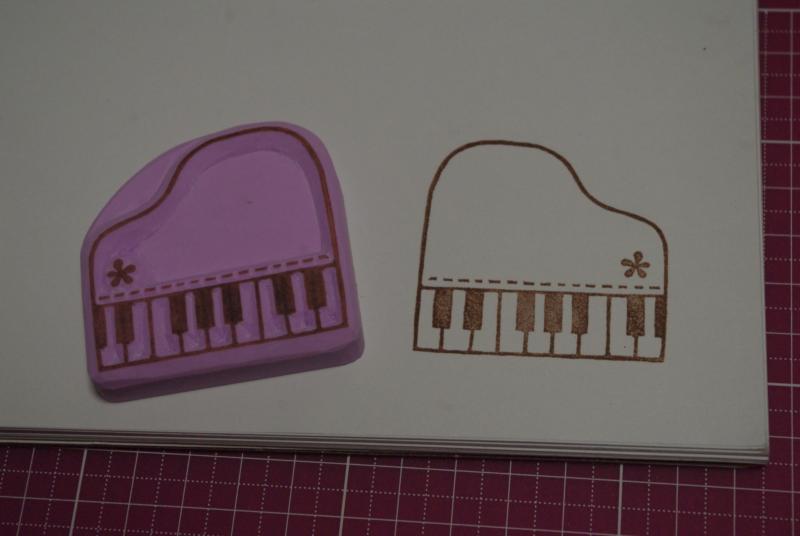 ミニピアノのはんこ♪