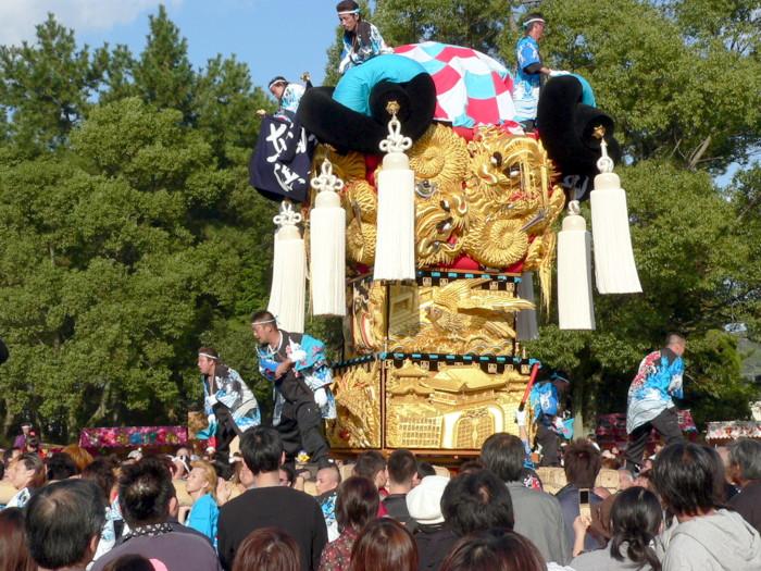 八旛神社の東浜太鼓台