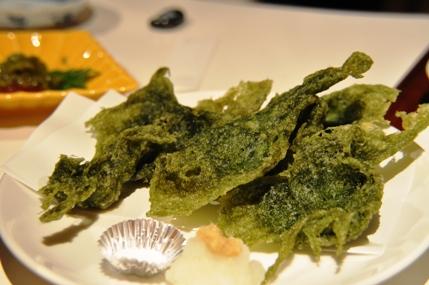青海苔の天ぷら
