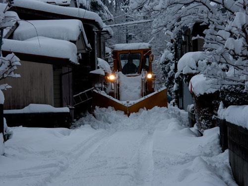 大雪警報の夕方