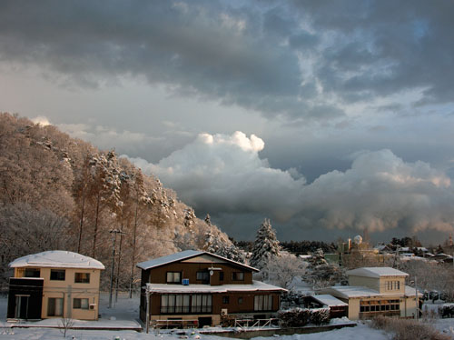 大雪警報の朝