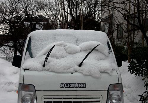 雪ロール失敗