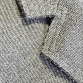ボンシェルのグレーのジャージーのテーラードジャケット