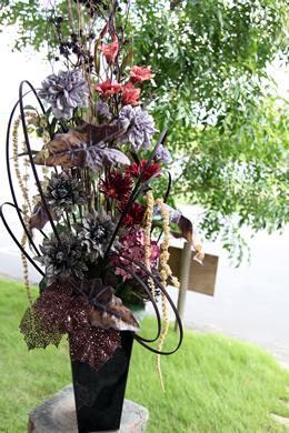 ガーベラ&アジサイの造花アレンジメント