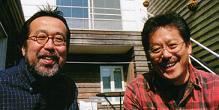 中川ひろたか(左)、村上康成(右)の両氏