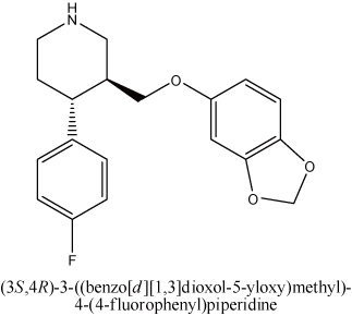 (3S,4R)-3-((benzo[d][1,3]dioxol-5-yloxy)methyl)-4-(4-fluorophenyl)piperidine