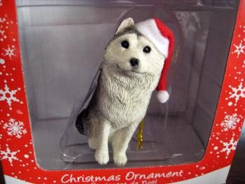 サンディキャストのクリスマスハスキー