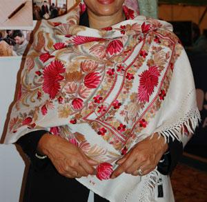 ムバラク大統領夫人お買い上げのストール