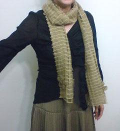 縄編みストール